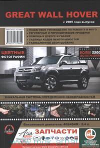 Great Wall Hover : с 2005 г. выпуска : бензиновые двигатели: 4G64S4M - 2.4 л : пошаговое руководство по ремонту в цветных фотогр
